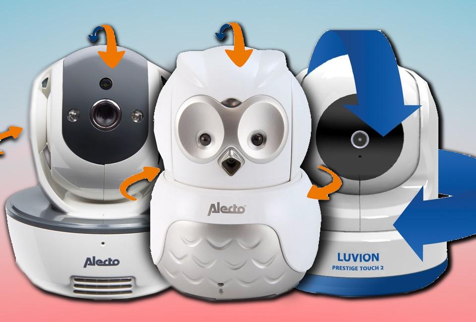 6 babyfoons met een beweegbare camera